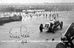 Maserati 8CM . photo. The Hon .Brian Lewis 1934 Intenational Trophy at Brooklands.